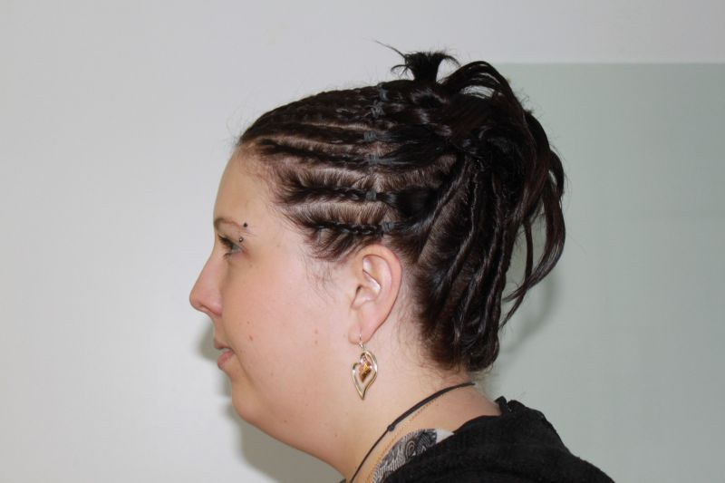 Chignon Soiree Tresses Et Torsades Lili In Zi Hair
